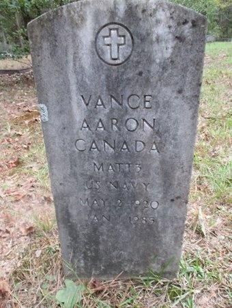 CANADA, VANCE AARON (VETERAN) - Sabine County, Louisiana | VANCE AARON (VETERAN) CANADA - Louisiana Gravestone Photos