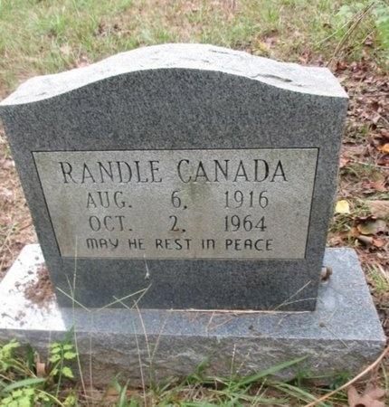 CANADA, RANDLE - Sabine County, Louisiana | RANDLE CANADA - Louisiana Gravestone Photos