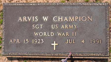 CHAMPION, ARVIS W (VETERAN WWII) - Sabine County, Louisiana | ARVIS W (VETERAN WWII) CHAMPION - Louisiana Gravestone Photos