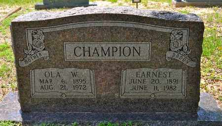 CHAMPION, EARNEST - Sabine County, Louisiana | EARNEST CHAMPION - Louisiana Gravestone Photos