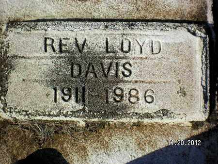 DAVIS, LOYD, REV - Sabine County, Louisiana | LOYD, REV DAVIS - Louisiana Gravestone Photos