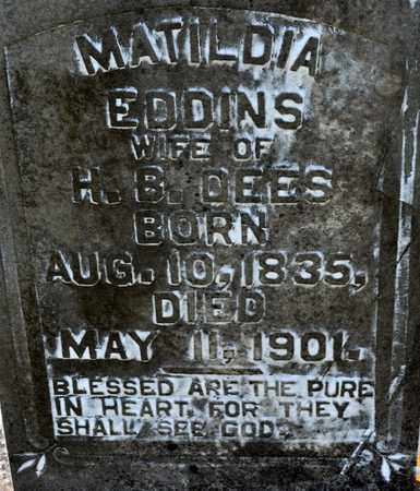 DEES, MATILDIA (CLOSEUP) - Sabine County, Louisiana | MATILDIA (CLOSEUP) DEES - Louisiana Gravestone Photos