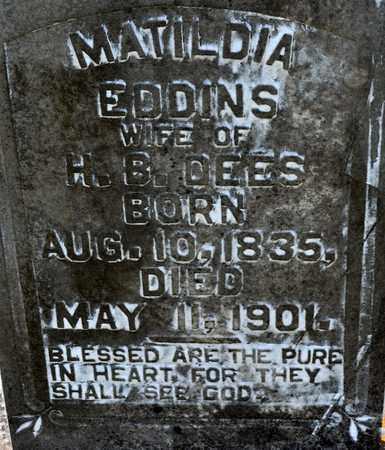 EDDINS DEES, MATILDIA (CLOSEUP) - Sabine County, Louisiana | MATILDIA (CLOSEUP) EDDINS DEES - Louisiana Gravestone Photos