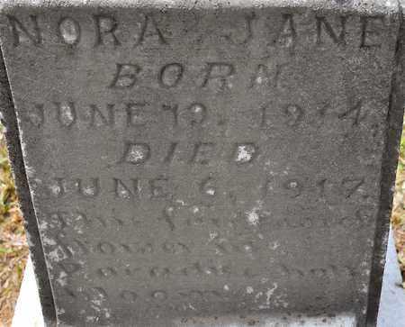 DEES, NORA JANE (CLOSEUP) - Sabine County, Louisiana | NORA JANE (CLOSEUP) DEES - Louisiana Gravestone Photos