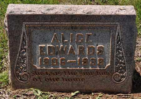 EDWARDS, ALICE - Sabine County, Louisiana | ALICE EDWARDS - Louisiana Gravestone Photos
