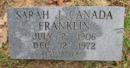 CANADA FRANKLIN, SARAH J - Sabine County, Louisiana | SARAH J CANADA FRANKLIN - Louisiana Gravestone Photos