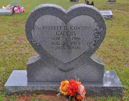 GADDIS, EVERETT D - Sabine County, Louisiana | EVERETT D GADDIS - Louisiana Gravestone Photos