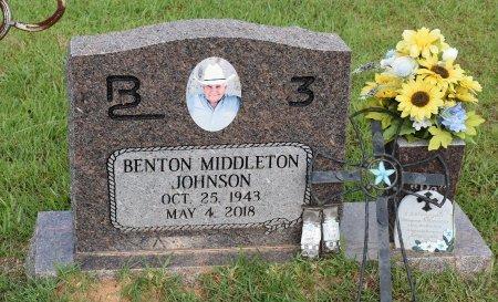 JOHNSON, BENTON MIDDLETON - Sabine County, Louisiana | BENTON MIDDLETON JOHNSON - Louisiana Gravestone Photos