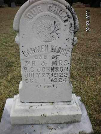JOHNSON, CARMEN ELOISE - Sabine County, Louisiana   CARMEN ELOISE JOHNSON - Louisiana Gravestone Photos