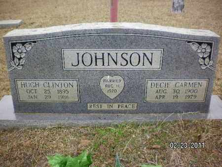 JOHNSON, HUGH CLINTON - Sabine County, Louisiana | HUGH CLINTON JOHNSON - Louisiana Gravestone Photos