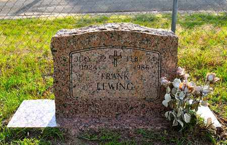 LEWING, FRANK - Sabine County, Louisiana   FRANK LEWING - Louisiana Gravestone Photos
