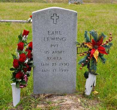 LEWING, EARL (VETERAN KOR) - Sabine County, Louisiana | EARL (VETERAN KOR) LEWING - Louisiana Gravestone Photos