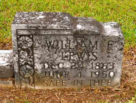 LEWIS, WILLIAM F - Sabine County, Louisiana | WILLIAM F LEWIS - Louisiana Gravestone Photos