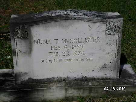 MCCOLLISTER, NUNA - Sabine County, Louisiana | NUNA MCCOLLISTER - Louisiana Gravestone Photos