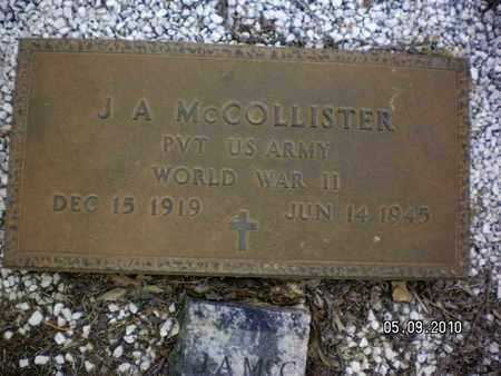 MCCOLLISTER, J A (VETERAN WWII) - Sabine County, Louisiana | J A (VETERAN WWII) MCCOLLISTER - Louisiana Gravestone Photos