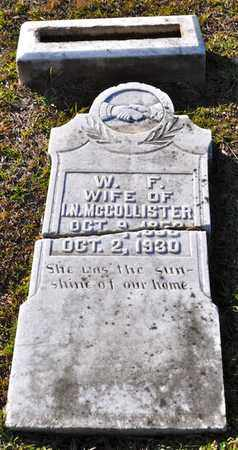 MCCOLLISTER, WINIFRED F - Sabine County, Louisiana | WINIFRED F MCCOLLISTER - Louisiana Gravestone Photos