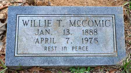 MCCOMIC, WILLIE T - Sabine County, Louisiana   WILLIE T MCCOMIC - Louisiana Gravestone Photos