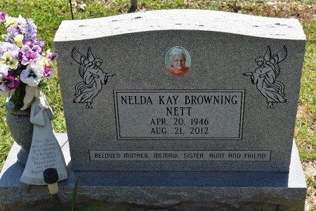 BROWNING NETT, NELDA KAY - Sabine County, Louisiana | NELDA KAY BROWNING NETT - Louisiana Gravestone Photos