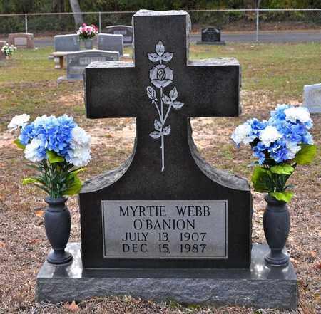 WEBB O'BANION, MYRTIE - Sabine County, Louisiana | MYRTIE WEBB O'BANION - Louisiana Gravestone Photos
