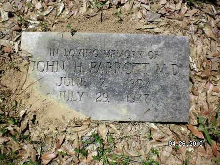 PARROTT, JOHN H, MD - Sabine County, Louisiana   JOHN H, MD PARROTT - Louisiana Gravestone Photos