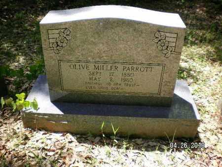 MILLER PARROTT, OLIVE - Sabine County, Louisiana   OLIVE MILLER PARROTT - Louisiana Gravestone Photos