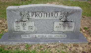 LOCKE PROTHRO, MATTIE - Sabine County, Louisiana | MATTIE LOCKE PROTHRO - Louisiana Gravestone Photos