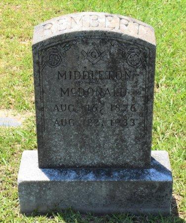REMBERT, MIDDLETON MCDONALD - Sabine County, Louisiana | MIDDLETON MCDONALD REMBERT - Louisiana Gravestone Photos