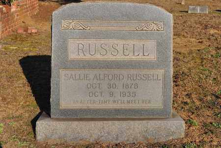 ALFORD RUSSELL, SALLIE - Sabine County, Louisiana | SALLIE ALFORD RUSSELL - Louisiana Gravestone Photos