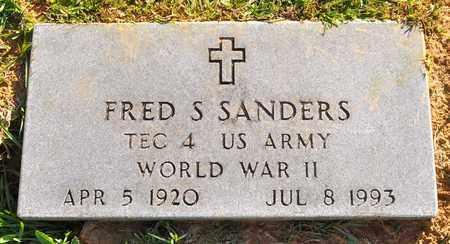 SANDERS, FRED S (VETERAN WWII) - Sabine County, Louisiana | FRED S (VETERAN WWII) SANDERS - Louisiana Gravestone Photos
