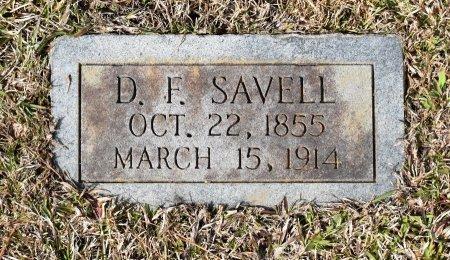 SAVELL, D F - Sabine County, Louisiana | D F SAVELL - Louisiana Gravestone Photos