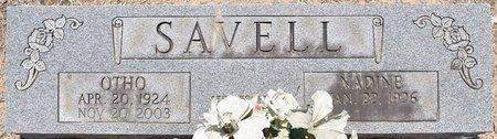 SAVELL, OTHO - Sabine County, Louisiana | OTHO SAVELL - Louisiana Gravestone Photos