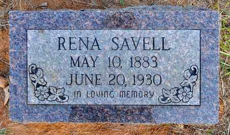 SAVELL, RENA - Sabine County, Louisiana | RENA SAVELL - Louisiana Gravestone Photos