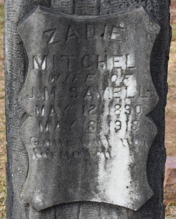 SAVELL, ZADIE (CLOSE UP) - Sabine County, Louisiana | ZADIE (CLOSE UP) SAVELL - Louisiana Gravestone Photos