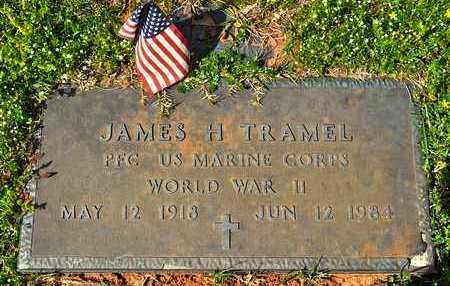 TRAMEL, JAMES H (VETERAN WWII) - Sabine County, Louisiana | JAMES H (VETERAN WWII) TRAMEL - Louisiana Gravestone Photos