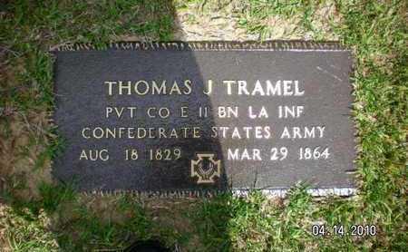 TRAMEL, THOMAS J (VETERAN CSA) - Sabine County, Louisiana | THOMAS J (VETERAN CSA) TRAMEL - Louisiana Gravestone Photos