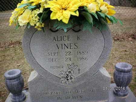 VINES, ALICE - Sabine County, Louisiana | ALICE VINES - Louisiana Gravestone Photos