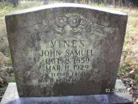 VINES, JOHN SAMUEL - Sabine County, Louisiana   JOHN SAMUEL VINES - Louisiana Gravestone Photos