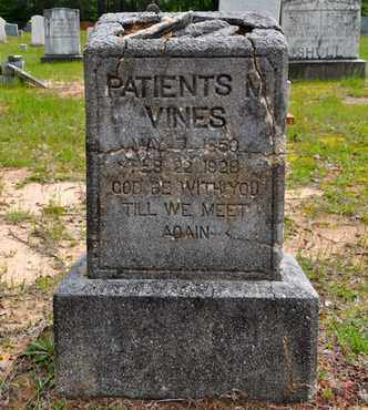 VINES, PATIENTS - Sabine County, Louisiana | PATIENTS VINES - Louisiana Gravestone Photos