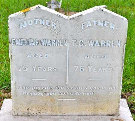 FELTS WARREN, EMELINE - Sabine County, Louisiana | EMELINE FELTS WARREN - Louisiana Gravestone Photos