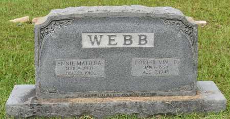 WEBB, PORTER VINT B - Sabine County, Louisiana | PORTER VINT B WEBB - Louisiana Gravestone Photos