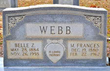 WEBB, BELLE ZORA - Sabine County, Louisiana | BELLE ZORA WEBB - Louisiana Gravestone Photos