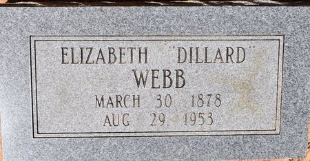 WEBB, ELIZABETH - Sabine County, Louisiana | ELIZABETH WEBB - Louisiana Gravestone Photos