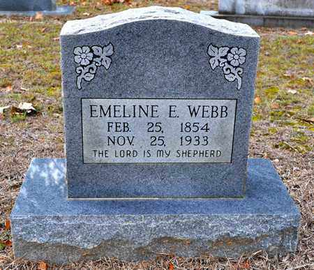 WEBB, EMELINE E - Sabine County, Louisiana | EMELINE E WEBB - Louisiana Gravestone Photos