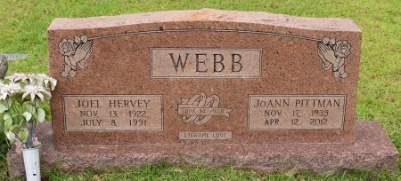 WEBB, JOANN - Sabine County, Louisiana | JOANN WEBB - Louisiana Gravestone Photos