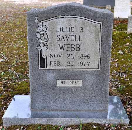 WEBB, LILLIE B - Sabine County, Louisiana   LILLIE B WEBB - Louisiana Gravestone Photos