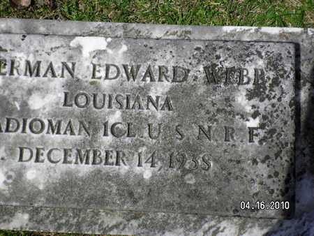 WEBB, HERMAN EDWARD (VETERAN) - Sabine County, Louisiana | HERMAN EDWARD (VETERAN) WEBB - Louisiana Gravestone Photos