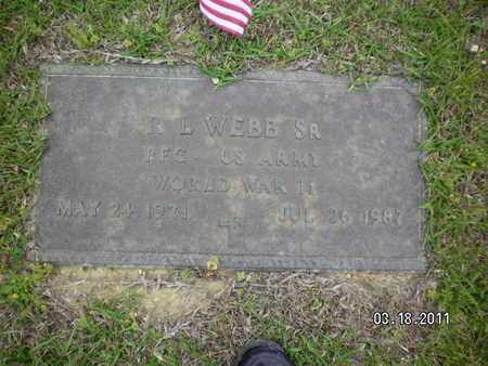 WEBB, R L (VETERAN WWII) - Sabine County, Louisiana   R L (VETERAN WWII) WEBB - Louisiana Gravestone Photos