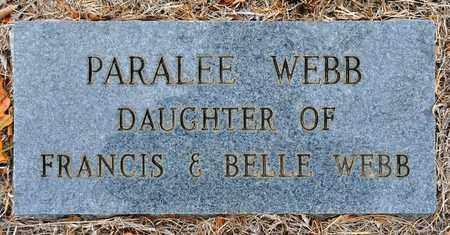 WEBB, PARALEE - Sabine County, Louisiana | PARALEE WEBB - Louisiana Gravestone Photos