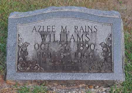 WILLIAMS, AZLEE M - Sabine County, Louisiana   AZLEE M WILLIAMS - Louisiana Gravestone Photos