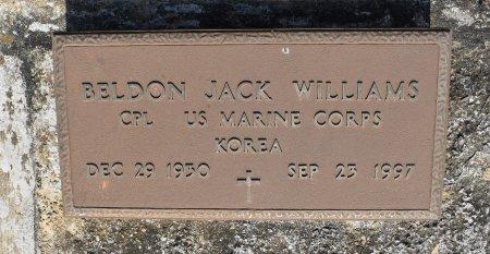 WILLIAMS, BELDON JACK (VETERAN KOR) - Sabine County, Louisiana | BELDON JACK (VETERAN KOR) WILLIAMS - Louisiana Gravestone Photos